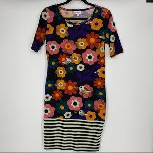 LuLaRoe | Size S. Julia Floral Bird Dress